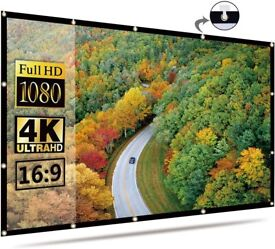 Projector Screen 16:9 HD Foldable for Home (120 inch)