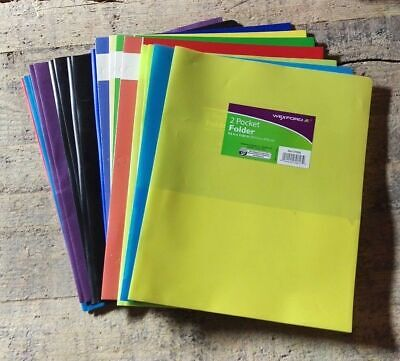 13 X 2 Pocket Folders Wexford Mead - Assorted Colors Styles - Free Shipping