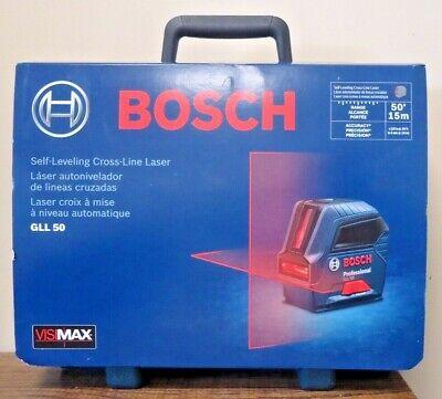 New Bosch 50 Self-leveling Cross-line Laser Gll 50 6711