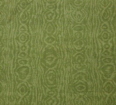 1 yd Olive Green Unbranded 100% Cotton Fabric With Moire Taffeta -