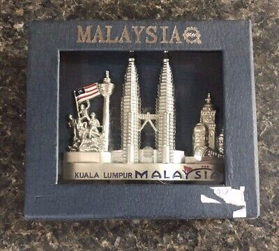 Malaysia Vertical Metal Business Card Holder New