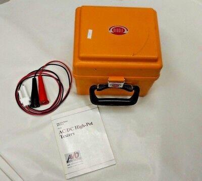 Nice Megger Biddle 230425 Portable 0-4k Ac5k Dc Hipot Tester