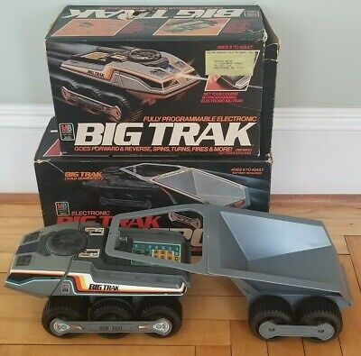 Vintage ©1979 Milton Bradley Big Trak & Transport Programmable Vehicle w/ Boxes