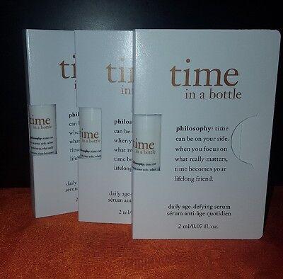 Philosophy time in a bottle daily age defying serum 0.07oz x10 +BONUS
