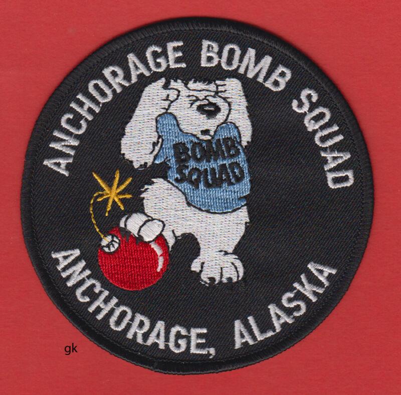 ANCHORAGE ALASKA BOMB SQUAD POLICE SHOULDER  PATCH BEAR