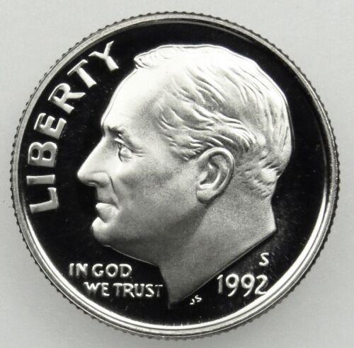 1992 S Proof Clad Roosevelt Dime Brilliant Uncirculated Deep Cameo DCAM