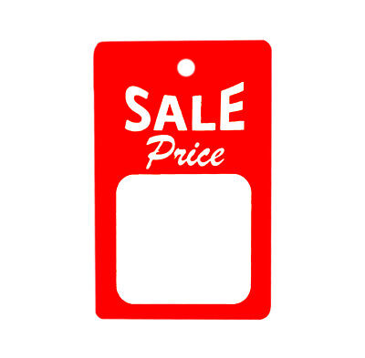 1000 All Purpose Large Red White Sale Price Unstrung Coupon Merchandise Tags