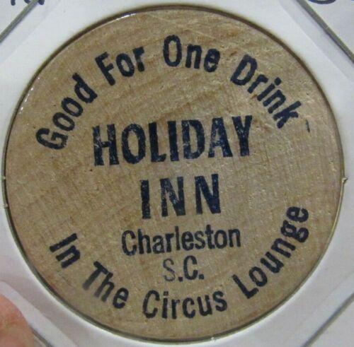 Vintage Holiday Inn Charleston, SC Wooden Nickel - Token South Carolina