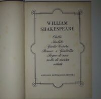 William Shakespeare Teatro - Mondadori 1955 6 Opere -  - ebay.it