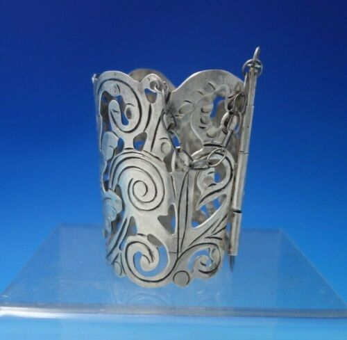 """Mexican Sterling Silver Beverage Holder Art Deco Style 3 1/4"""" x 2 3/8"""" (#5412)"""