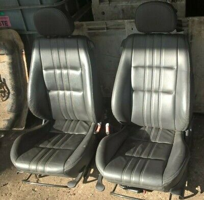 GENUINE VAUXHALL TIGRA B 2004-2009 FRONT LEATHER SEATS INTERIOR IN BLACK HEATED
