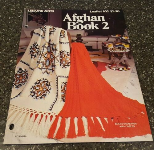 The Afghan Book 2 Knit & Crochet by Leisure Arts Leaflet 102