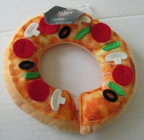 NWT-Target Hyde & Eek Halloween Cat Pizza Neckwear Collar-Plush-Hook & Loop Tab