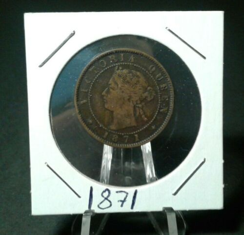 WORLD OLD COINS  1871Prince Edwards Islands One Cent Rare Old Coin!!!!!