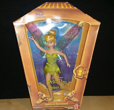 Disney Collector Doll Tinkerbell Spirit of Neverland New NRFB Mattel 2001