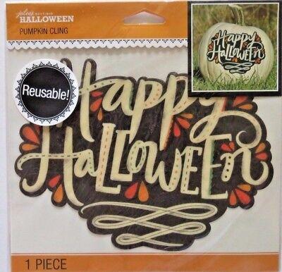 Happy Halloween Pumpkin Cling Jolee's Reusable Cling Stickers