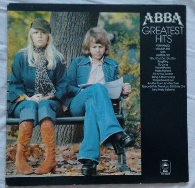 ABBA - Greatest Hits - Epic - S EPC 69218 - UK 1976 Yellow Labels  A2 / B4 EX/VG