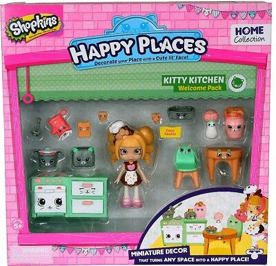 Shopkins Happy Places Kitty Kitchen Welcome Decor Pack Coco