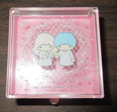Vintage 1976 Sanrio Little Twin Stars Small Trinket Box Stationary Case