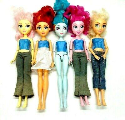 "My Little Pony Equestria Girls Doll Lot Of 5 Rainbow Dash Hasbro 11"""