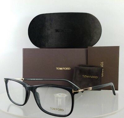 734a33595cf8f Brand New Authentic Tom Ford Eyeglasses FT TF 5398 001 55mm Black Gold Frame