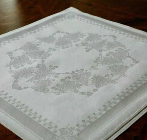 "Irish Double Damask Lilacs  Set of 12 22.5"" Linen Napkins & Tablecloth 83"" x 87"""