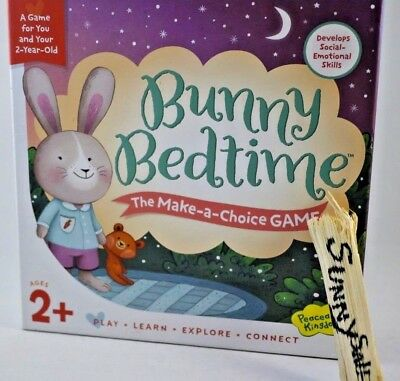 Peaceable Kingdom Bunny Bedtime Make a Choice Game for You and Your 2 Year Old