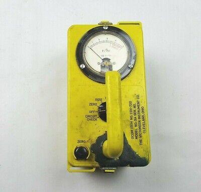 Vintage Victoreen Instrument Ocdm Radiological Survey Meter Cdv-720 As Is