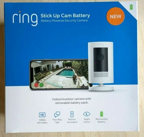 RING Stick Up Cam Battery HD Security Cam (3rd Gen) w/ 2-way Talk, NEW & SEALED!