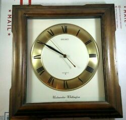 Vintage Seiko Westminster Whittington Quartz Wall Clock AS-IS Parts or Repair