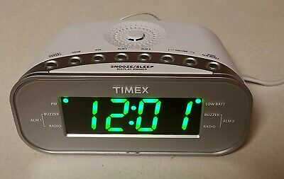 TIMEX Alarm Clock Radio AM FM Radio MODEL #T231Y (2 Alarms) large display clock