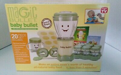 Magic Bullet - Baby Bullet - Baby Food Maker 27 Piece Set Baby Care System New