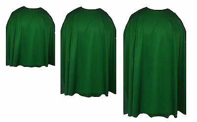 Emerald Green Custom Made Super Hero Cape Fancy - Green Cape Kostüm
