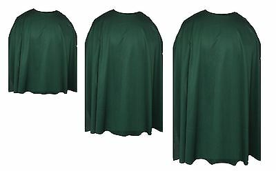 Forest Green Custom Made Super Hero Cape Fancy - Green Cape Kostüm