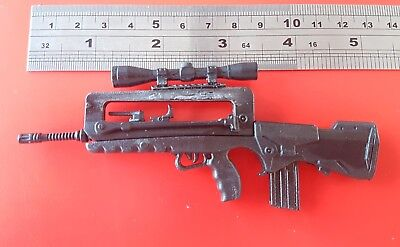 1/6 Scale French army FAMAS F1 Sniper rifle custom weapon for 12 inch figure
