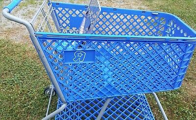 Toys R Us Shopping Cart Toy Kids Store Carts Shop Fun Blue Vintage Rare