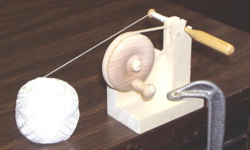 Bobbin Lace Winder, Hardwood, Hand Crafted