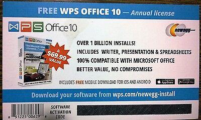 Офисная программа WPS Office 10, 1