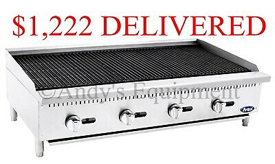 Brand New 4 Foot Wide 48 Inch Counter Top Char Rock Broiler Grill 140000 Btus