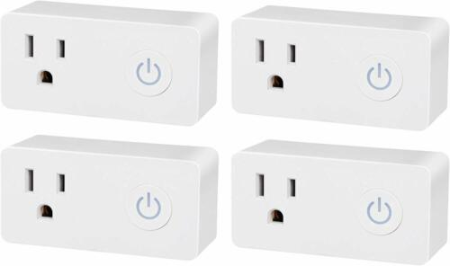 BN-LINK 4 Pack Smart Wi-Fi Plug Outlet Works with Alexa and Google Assistant
