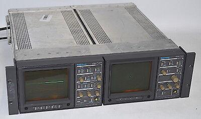 Tektronix 1730 Waveform Monitor & 1720 Vector Scope *Used, In Rack Mount*
