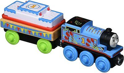 Thomas & Friends Wooden Wood Railway Birthday Thomas With Musical Cake Car, New