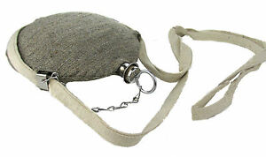 Reproduction Stainless Steel Covered Civil War Canteen - Reenactors - JEAN WOOL