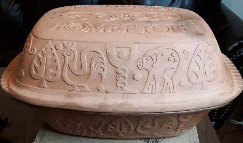 Romertopf 113 4 quart Roasting Pan Pot Terra Cotta Clay