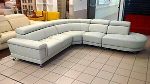 GENUINE LEATHER - PERLA MODULAR LOUNGE W/ADJUSTABLE HEADRESTS Logan Central Logan Area Preview