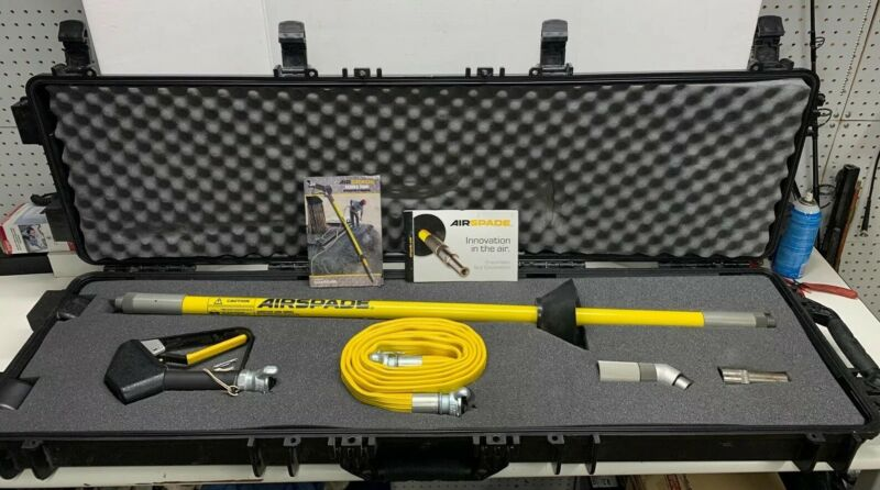 Air-Spade 2000 Series Pneumatic Soil Excavation Tool Kit ** Excellent **
