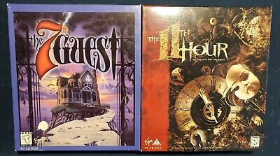 The 11th Hour & The 7th Guest Trilobyte Big Box PC CD-ROM MS-DOS Complete
