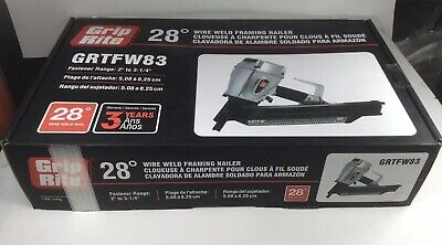 Grip Rite Tools Grtfw83 28 Short Body Pneumatic Wire Weld Framing Nailer