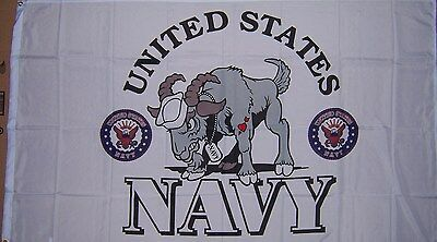 NEW U.S. NAVY MASCOT 3ftx5ft FLAG