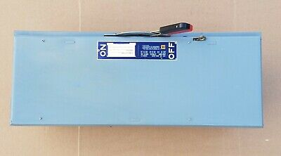 Square D Qmb-364w 3 Pole 200 Amp 600 Volt Fusible Panelboard Switch Disconnect
